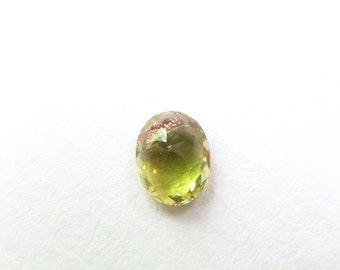 Bicolor Tourmaline Oval. Natural No Treatments. Set Upside Down For Rose Cut. 1 pc. 0.88 cts. 5x7x3mm  (TM2307)