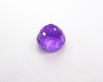 Natural Amethyst Round Gemstone. Medium Purple Color. Native Cut. Set Table Down For Rose Cut. 1 pc. 2.72 cts. 8.5 mm  (AM1410)