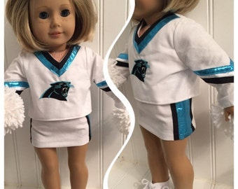 Carolina Panthers or Design Your Own American Girl Doll Cheerleading Outfits-Complete Outfit included in Price