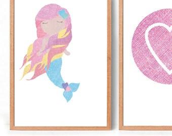 Mermaid Art Print (free Aus shipping)