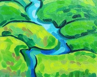 """River // Oil on Canvas Board // 9"""" x 12"""""""