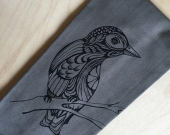 Kitchen Towel: Songbird on Gray