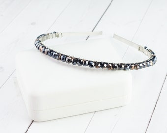 Hematite Copper Crystal Headband - Unique Gifts for Women - Gifts Under 35 - Xmas Gifts - Christmas Presents for Girlfriend