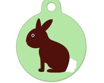 Pet ID Tag - Bunny Pet Tag, Dog Tag, Cat Tag, Luggage Tag, Child ID Tag