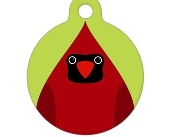 Pet ID Tag - Cardinal Pet Tag, Dog Tag, Cat Tag, Luggage Tag, Child ID Tag