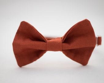 Rust Orange Clip on Bow Tie - Infant, Toddler, Boys