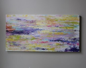 painting on canvas,wall art,canvas art,  stripe , pastel color,large painting,  abstract,purple,pink,colorful painting