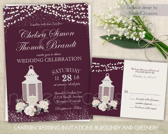like this item - Lantern Wedding Invitations
