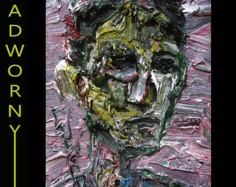 Oil Painting 16 by 12 by 3/4 in. / original oil painting signed nyc impressionism abstract outsider folk portrait