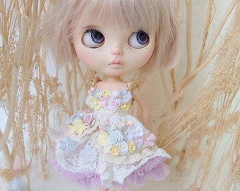 Blythe Fluffy flowers Dress