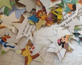 Confetti from Old Disney Little Golden Books Over 400 Star Punches - Rippy Bits by TangoBrat Ready to Ship