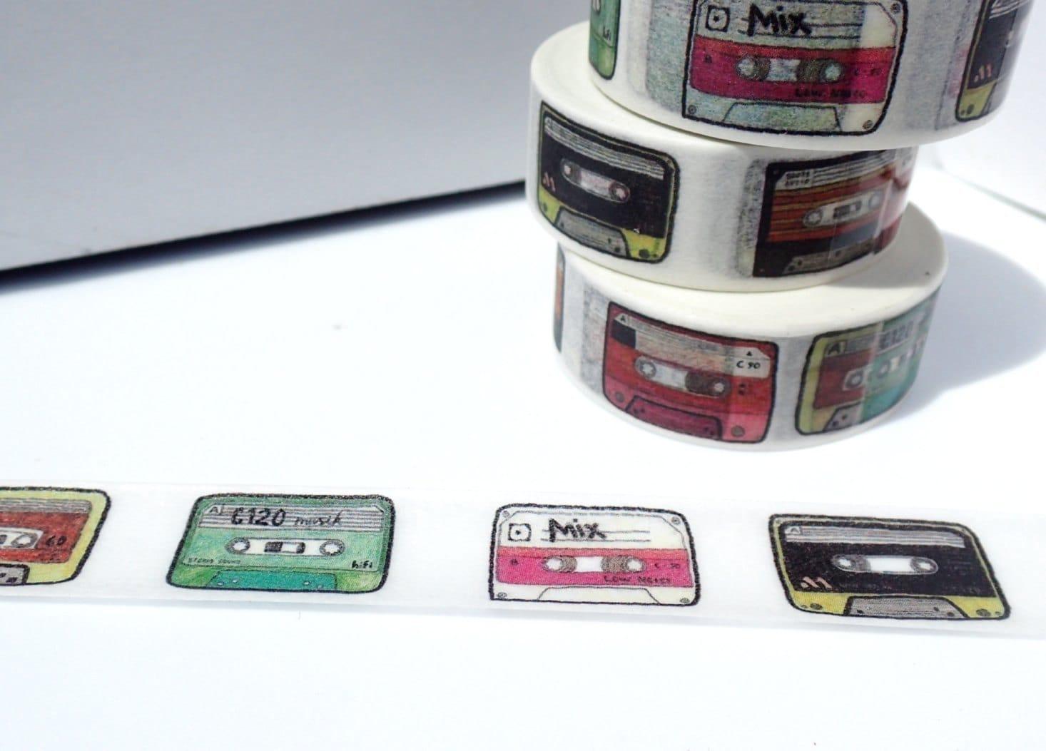 Cassette tape washi tape paper tape great for scrapbooking paper cassette tape washi tape paper tape great for scrapbooking paper crafts and decorations mix tape 80s retro vintage music 15mm x 10m jeuxipadfo Images