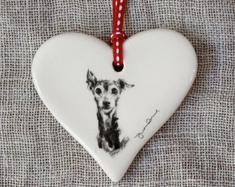 Valentine's Italian Greyhound Heart