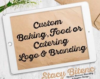 Food logo - Baking logo - Catering logo - Cookie Logo - Cupcake logo - Pastry Logo - business branding