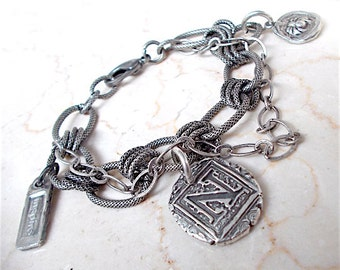 """RESERVED Oxidized  Silver Chain, 22"""" -Custom Order"""