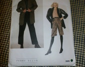 Vintage 1980s Vogue American Designer Perry Ellis Jacket and Pants Pattern 2809, Sz 10