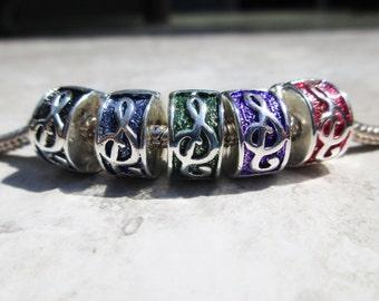 G-Clef stopper bead hinged for European charm bracelet music fans~!