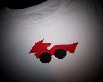 "Race Car Iron on Applique, 5 1/2"" Wide"