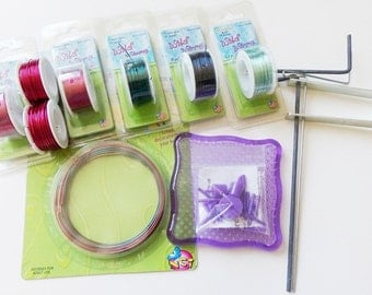 Colored Copper Craft Wire, Wild Wire Jig, Coiling Gizmo Lot
