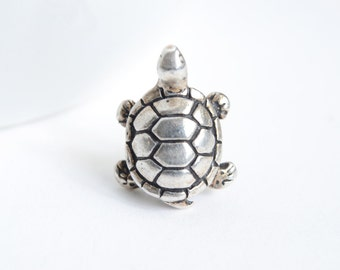 Turtle Pin, Silver Turtle Tie Tack
