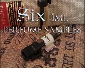 SIX Perfume Samples / 1ml perfume sample / Choose your Scents / Vegan perfume oil