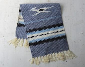 "Vintage Blue Southwestern Table Runner -  Woven Textile - Southwestern Home Decor 8 1/2"" x 21"""