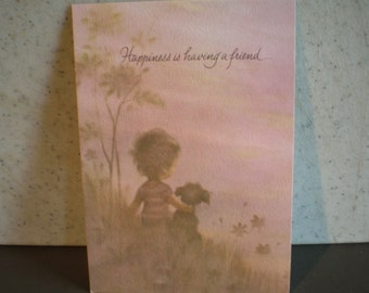 Vintage Unused Greeting Card - Friendship