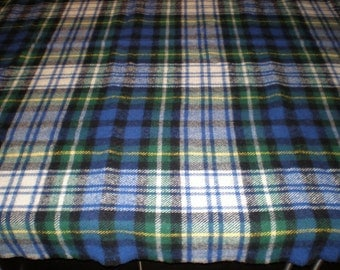 Vintage Mid Century 100% Virgin Wool Paid Blanket