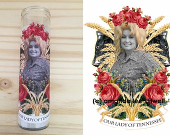"""Pop Culture Altar Candle:  """"Our Lady of Tennessee"""""""