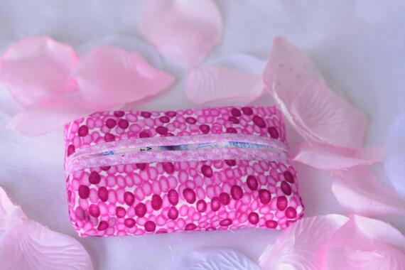 Gift Basket Filler, Hot Pink Kleenex Tissue Holder, Handmade Case, Travel Tissue Case, Pocket Tissue Case, Bachelorette Party Favor