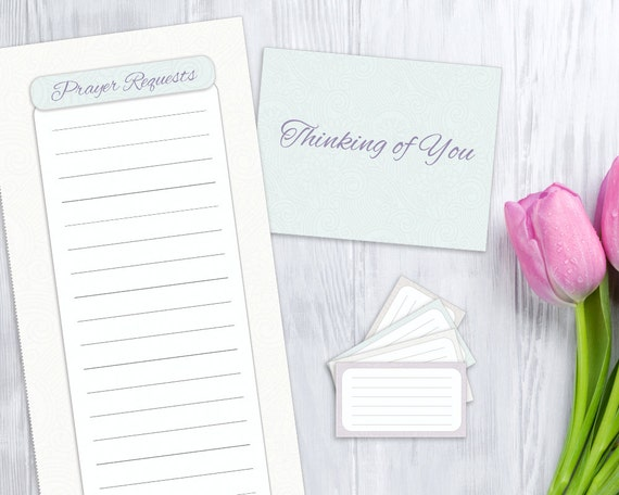 prayer list blank card and verse cards printable