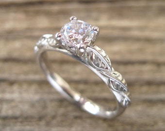 Antique White Gold Wedding Band
