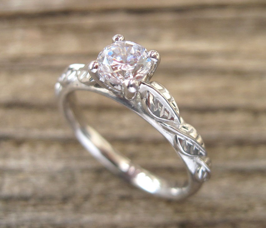 Leaf Engagement Ring Engagement Ring Antique Engagement by ...