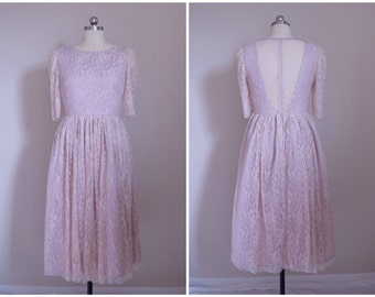 Lace Bridesmaid Dress with 3/4 Sleeves - Lots of colors and custom size