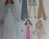 1970s Barbie Sewing Pattern Vintage Simplicity 7210 Doll Wardrobe