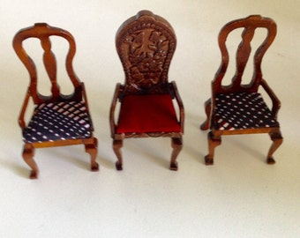 Vintage Miniature Doll Furniture/Chairs