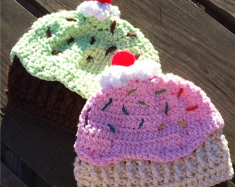 Cupcake beanie hat - Small Child (3-5 years old)