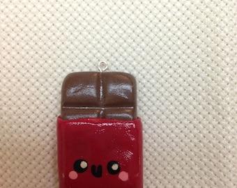 Chocolate Bar Clay Charm