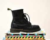 ON SALE Amazing 90s Black Dr. Martens Boots Size Women 5 5 1/2 // Vintage Doc Marten Black Boots UK Size 3 Made in England
