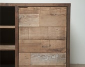 Reclaimed wood credenza, cabinet, or vanity