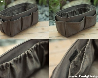Purse ORGANIZER insert / Bag Organizer / Extra Sturdy / Solid Brown / Extra Large 30x12cm
