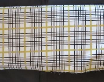 Riley Blake Fabric  - When Skies Are Grey - Skies Plaid White- SC5605
