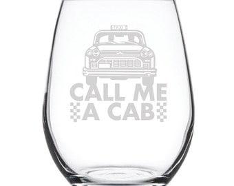 Stemless White Wine Glass-17 oz.-7825 Call me a Cab