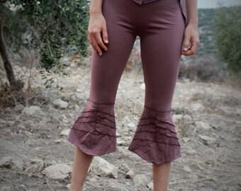 Elven Leaf Leggings ~ Organic Cotton