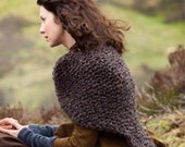 CHRISTMAS IN JULY Sale Outlander Knitted Shawl Wrap Cape // The Sassenach