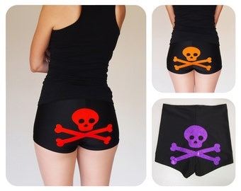 Skull and Crossbones Roller Derby Shorts - Pre-Order