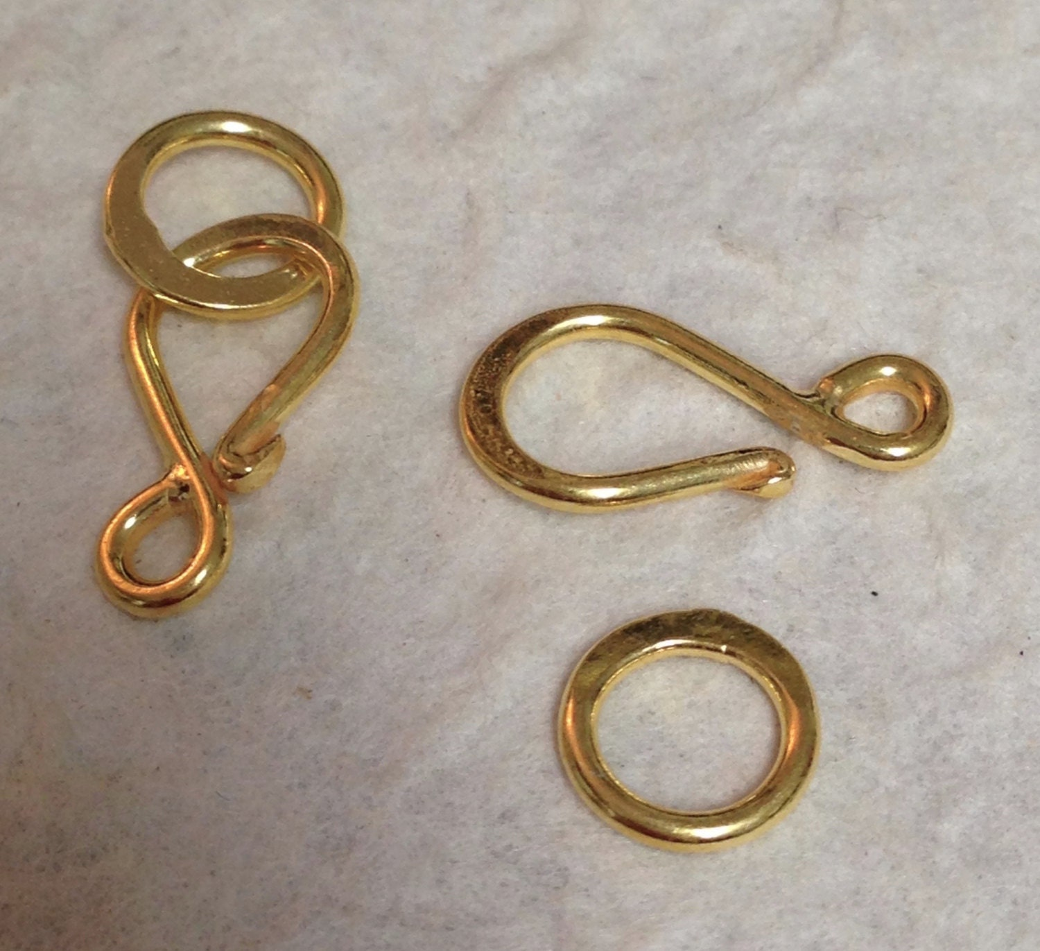 new 2 vermeil hook and eye jewelry clasps clean line