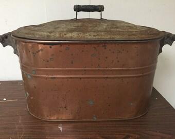 Antique Copper Laundry Pot