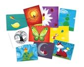 ANY 10 CARDS - Animal Art Stationery