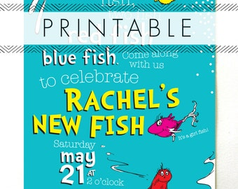 One Fish Two Fish Baby Shower Invitation Printable